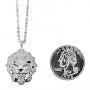 Chanel 18K White Gold Diamond Sous Le Signe du Lion Pendant Necklace