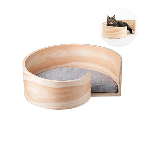 Pidan Cat Beds for Indoor Removable P illow Wood Wax Surface Treatment (Spiral)