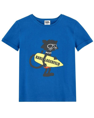 Karl Lagerfeld Kids Surfer Cat Tee