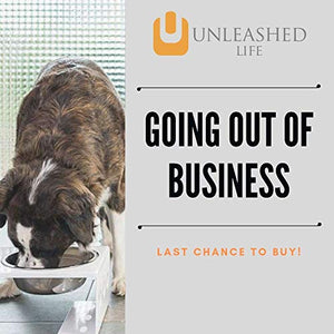 Unleashed Life Austin Strap Collection – Elevated Cat Food & Water Table