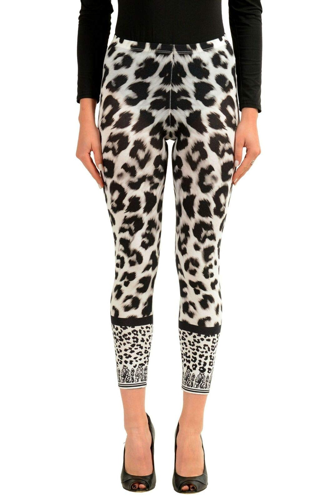 Versace Versus Multi-Color Leopard Printed Women's Leggings Sz US 2XS IT 36