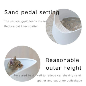 Pidan Cat Litter Box Large Litter Pan Cat Toilet Open Design Moderate Capacity