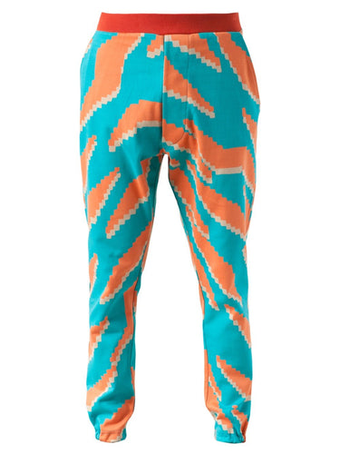 Vivienne Westwood Men's Eschnapur Tiger Jacquard Sweat Pants