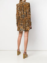 Load image into Gallery viewer, Saint Laurent Leopard Print Mini Dress