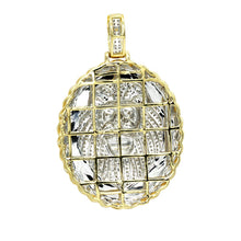Load image into Gallery viewer, Men's Medallion 14K Rose, White or Yellow Gold Real Diamond Lions Head Pendant 1ctw