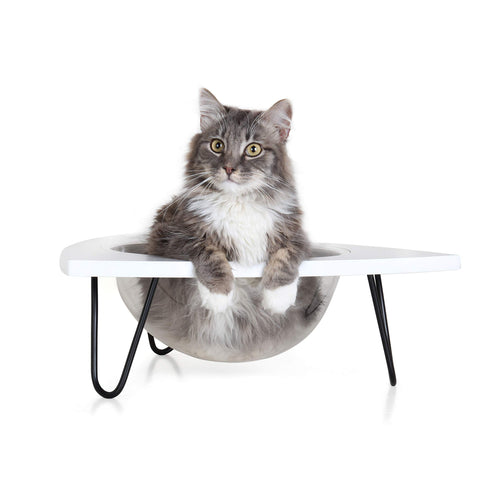 Primetime Petz Hauspanther Tripod - Cat Lounge Pod, White