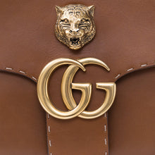 Load image into Gallery viewer, GUCCI GG MARMONT LEATHER SHOULDER BAG Brown Tiger Authentic New