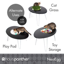 Load image into Gallery viewer, Primetime Petz Hauspanther Nestegg - Raised Cat Bed & Side Table, Black