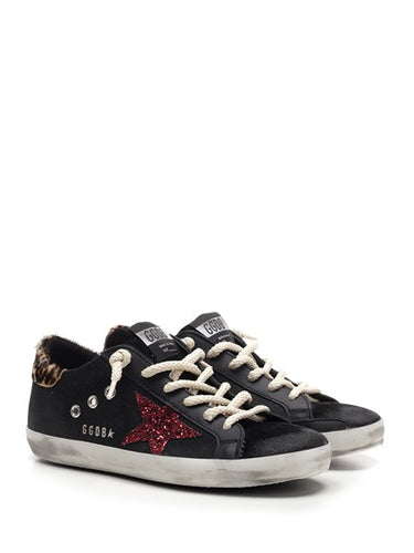 Golden Goose Deluxe Brand Black leather Superstar Sneakers with Rope Laces
