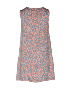 Love Moschino Leopard Print Dress, Grey/Peachy Pink, 4