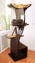 Load image into Gallery viewer, The Refined Feline Lotus Cat Tower in Espresso