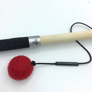 Ghent Craft Works Designer Cat Toy Wand with 100% Wool Felt Ball