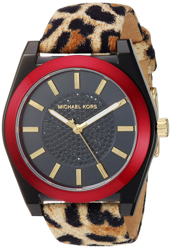 Michael Kors Women's Channing Stainless Steel Quartz Watch with Leather Strap
