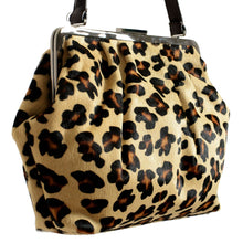 Load image into Gallery viewer, Red Valentino Leopard Printed Pony Hair Women's Clasp Handbag Shoulder Bag