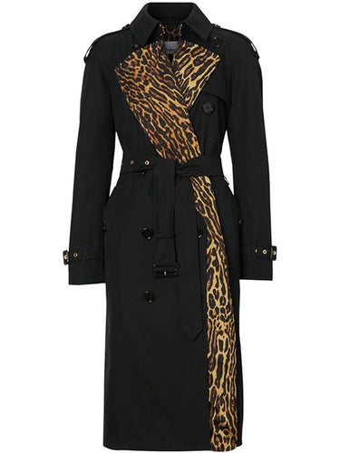 Burberry Bridstow Trench Coat With Leopard Lining