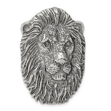 Load image into Gallery viewer, 925 Sterling Silver Large Antiqued Lion's Head Pendant