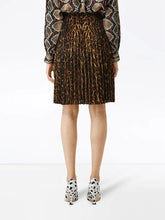 Load image into Gallery viewer, Burberry Leopard Print Pleated Skirt