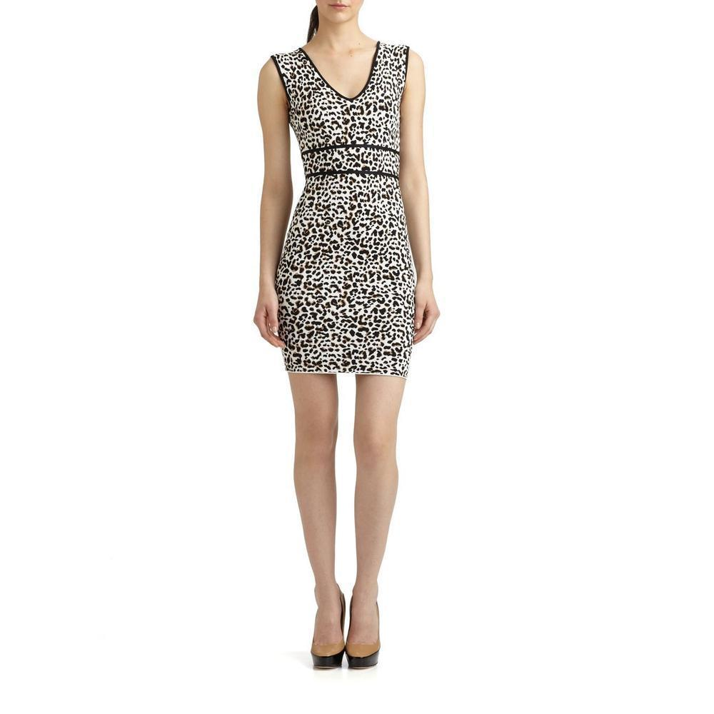 BCBGMaxazria Fancy Leopard Cocktail Dress