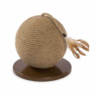 Cat Power Scratching Sphere with Tassel Toy