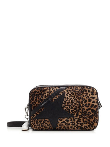 Golden Goose  Star Bag Crossbody with Leopard Print Panel