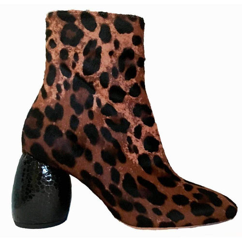 Dries Van Noten Leopard Calf Leather Boots