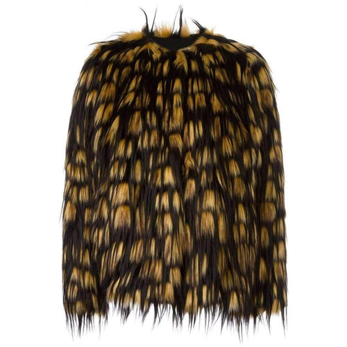 Dries Van Noten Reese Short faux-fur jacket
