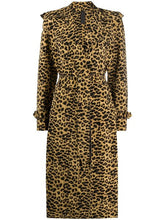 Load image into Gallery viewer, Norma Kamali Leopard Pattern Trench Coat