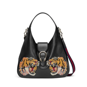 Gucci Dionysus Embroidered Maxi Leather Hobo Bag