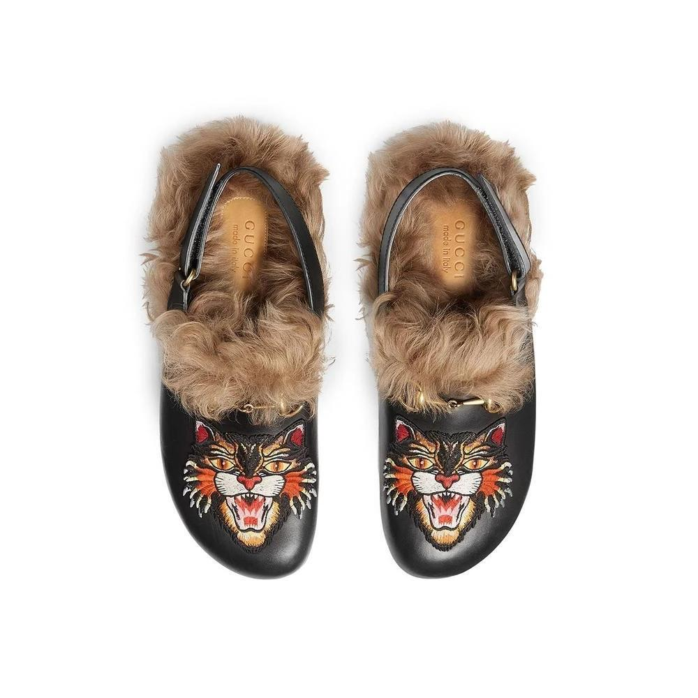 Gucci Horsebit Slipper with Angry Cat Applique