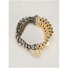 Load image into Gallery viewer, Iosselliani Chettah Head Dirty Crystal Bracelet