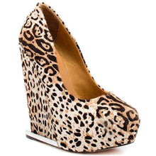 Load image into Gallery viewer, L.A.M.B. Elegant 'Dorothee' Leopard Print Wedge
