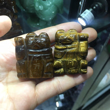Load image into Gallery viewer, Natural Healing Stone Tiger Eye Quartz Fortune Cat