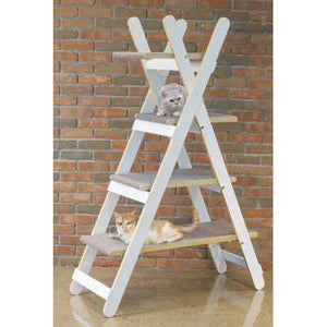 Triangle Ladder Step Modern Folding Cat Tree with Platforms - TOY0091720110