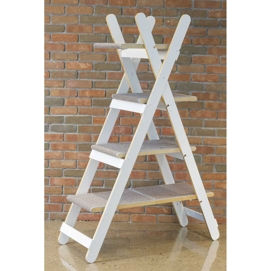 Triangle Ladder Step Modern Folding Cat Tree with Platforms