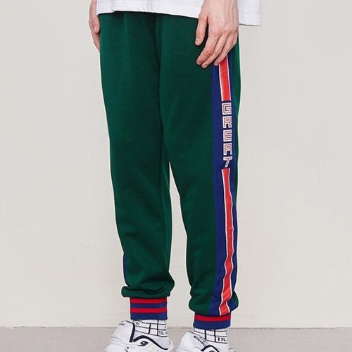 men's wear versatile side-striped drawstring sports pants