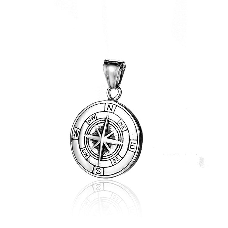 men's accessories Stainless steel compass fashion pendant