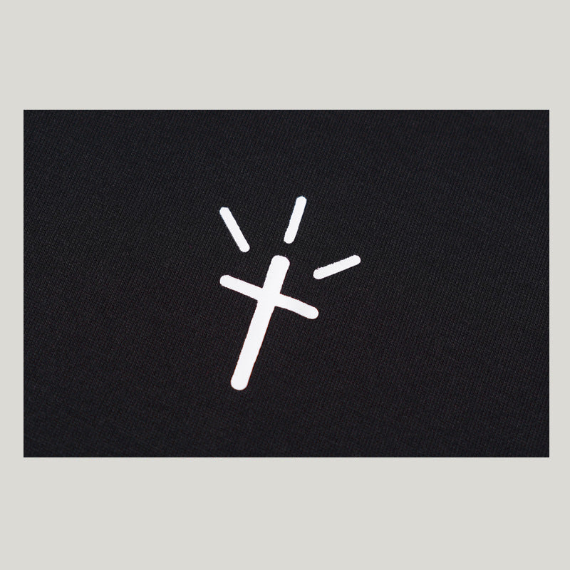 men's wear street trend cross trick Jesus loose T-shirt