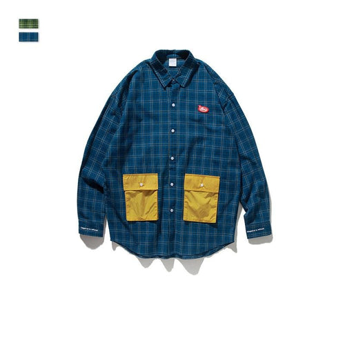 Men's Wear Vintage New Plaid Loose Shirts