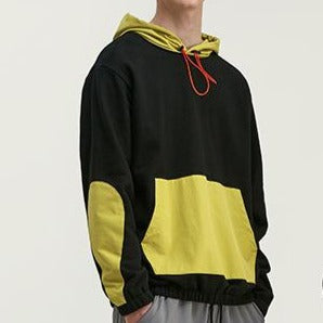 men's wear spring color hooded sweater