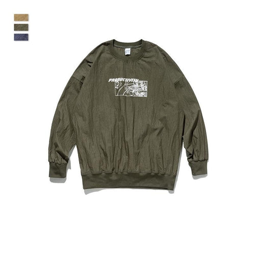 men's wear spring map printing loose windbreaker