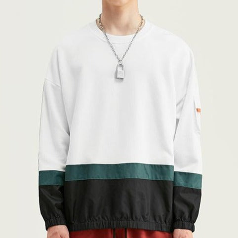 men's wear spring loose round neck soft sweatshirt