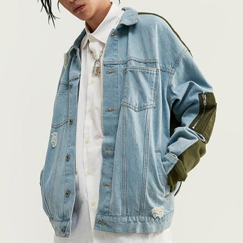 men's wear fashion denim loose jacket coat
