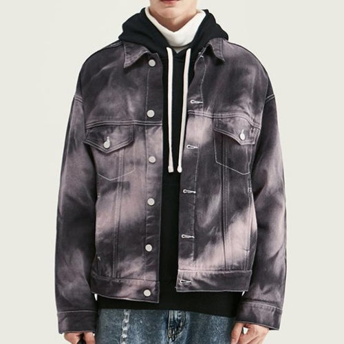 Men's Wear Street Irregular tie-dyed Multi-color jacket