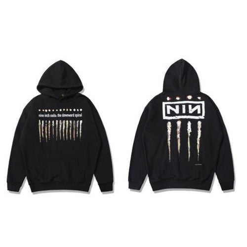 Men's Wear NIN Rock Band High Street hooded sweatshirt