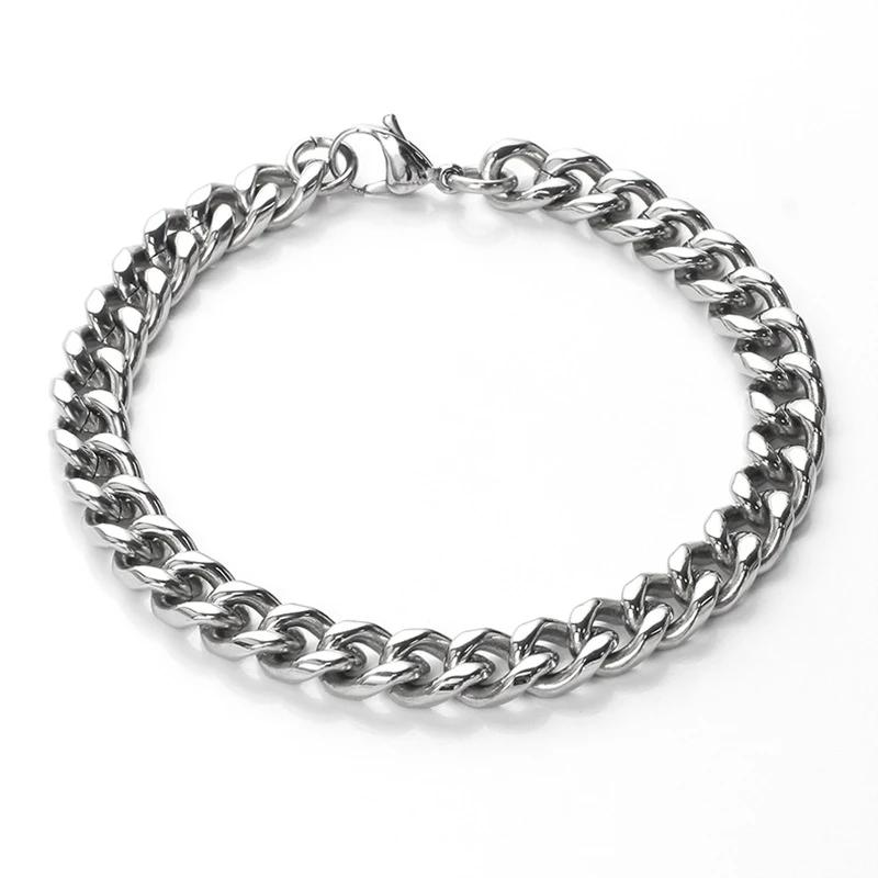 men's and women's accessories stainless steel chain bracelet