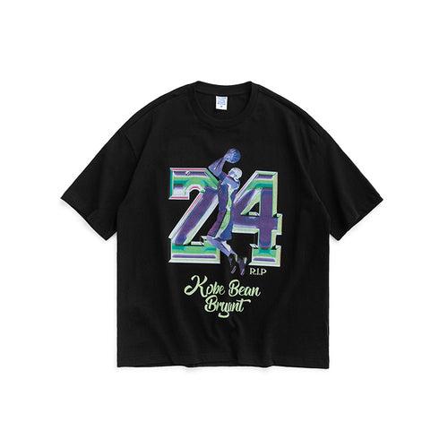 Men's Wear Memorial Kobe 24 Loose Short Sleeve T-shirt
