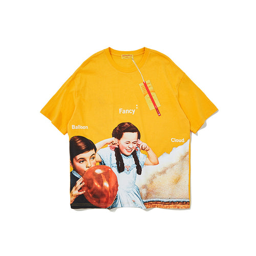 Men's and women's Wear Cartoon oversize Street T-shirt