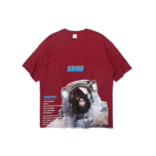 Men's and women's Space Orangutan Astronaut oversize T-shirt