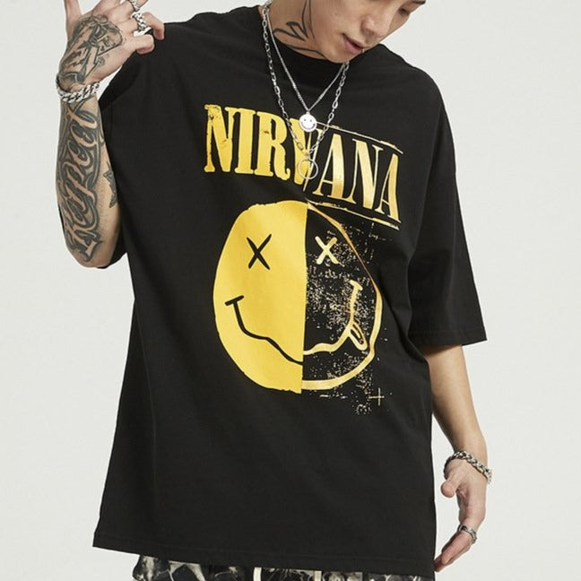 men's wear spring and summer Nirvana band T-shirt