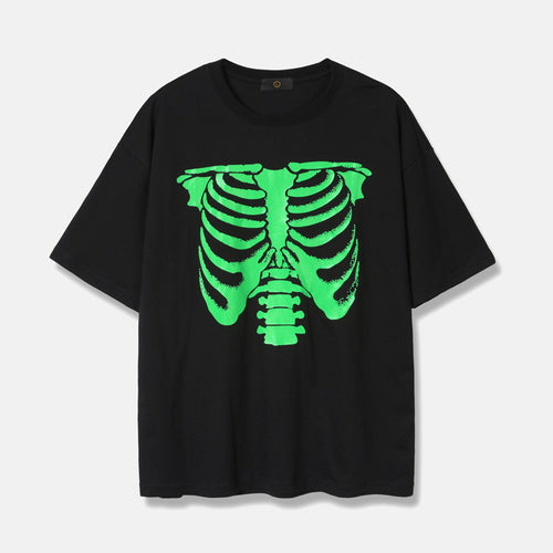 Men's Wear Spring/Summer New skeleton drop shoulder T-shirt